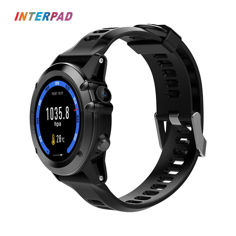 Interpad New Design 3G GPS Smart Watch Android MTK6572 512MB 4GB WIFI IP68 Waterproof 5MP Camera Heart Rate Monitor Smatwatch