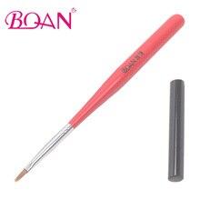 BQAN  Wooden Hanldle One Stroke Nail Brush Nail Art Painting Pen Mini Flat UV Gel Brush Free Shipping