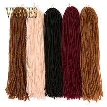 дешево✲  VERVES Наращивание крючком дреды для наращивания волос 18 дюймов 54 корня / шт. Вязание крючком