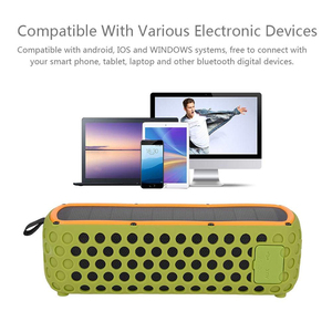Image 2 - Portable IPX5 Waterproof Solar Bluetooth Speaker with LED light and Built in Mic Compatible for iPhone Samsung and Smart Devices
