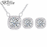 2014 New fashion wedding jewelry sets for bridal made with AAA cubic zircon pendants Necklaces Earrings women wholesale