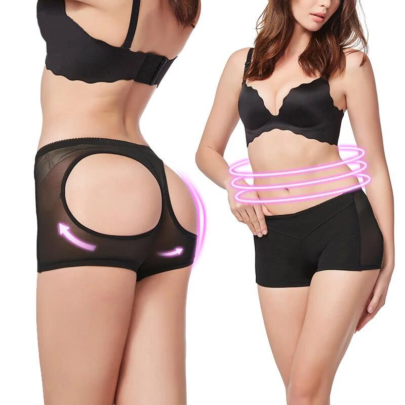Slimming Control Body Shaper High Waist Trainer Lace Chiffon Sexy Corset Control Panties Thin Buttock Womens Buttocks Shapewear