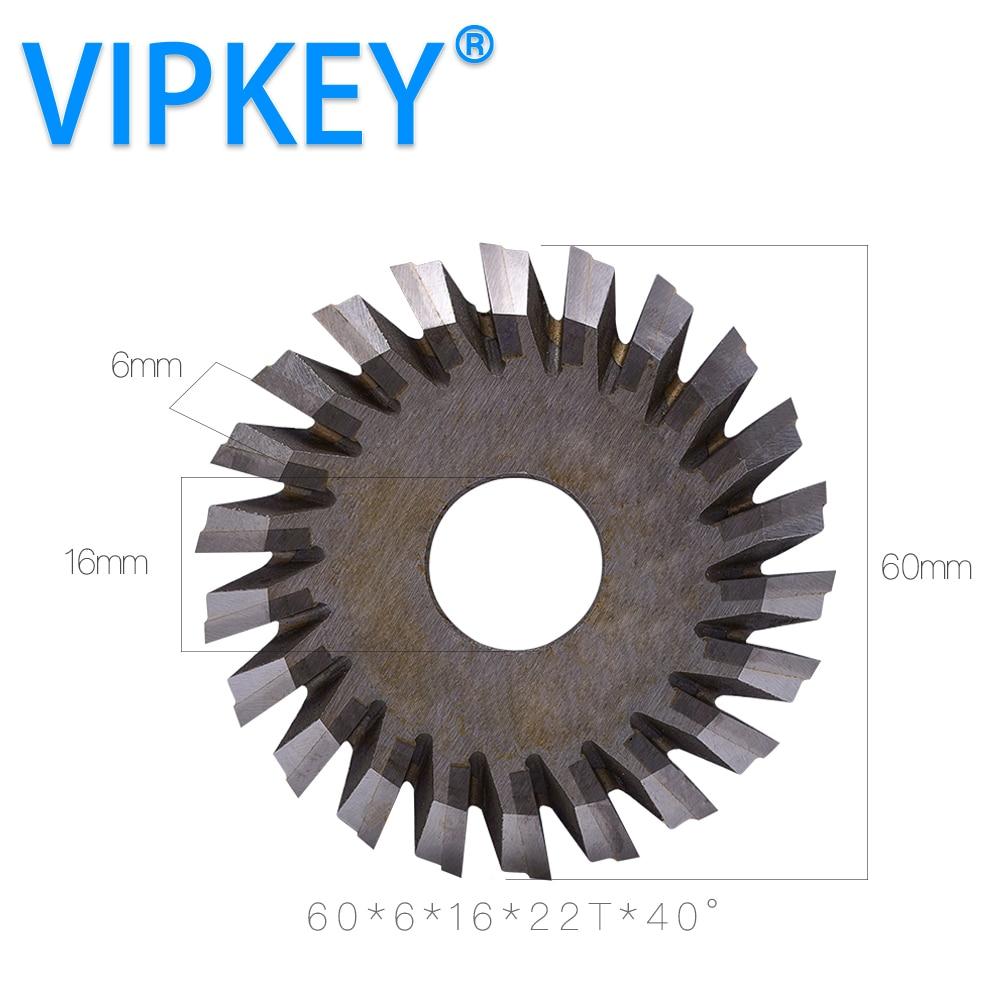 60 6 16mm 22T Welded carbide tungsten key cutting machine saw blade milling cutters mini circular