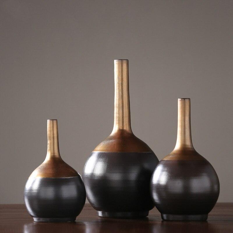 Simple Vase en céramique décoration créative maison fleur Arrangement Designer doux décoration lumière luxe décoration