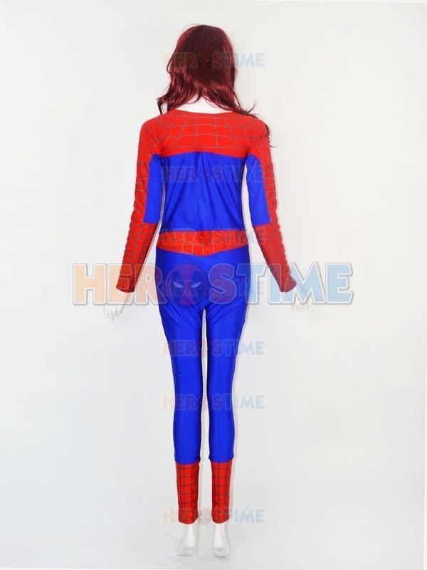 Qadın versiyası Aşağı Boyunlu Hörümçək Kostyum Spandex - Karnaval kostyumlar - Fotoqrafiya 4
