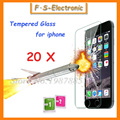 20 pcs 0.3mm 9 h super fina película de vidro temperado para iphone 7 6 6 s plus 5 5S 5c 4 4S Protetor de Tela Transparente com Água Limpa ferramentas