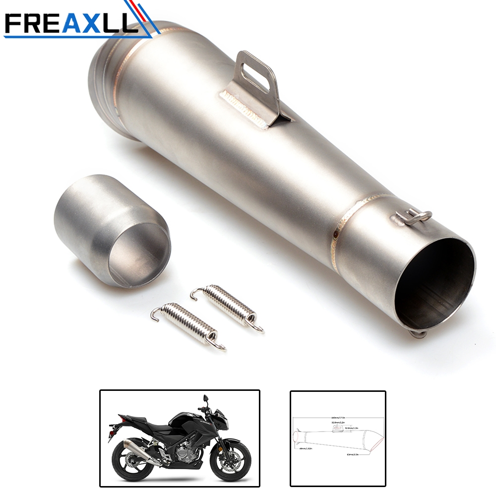 цена на 36-51MM Modified motorcycle exhaust pipe stainless steel fried tube exhaust pipe For SUZUKI SFV650 GLADIUS B-KING GSX-S1000/F