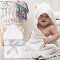 Premium Baby Towel Baby Washcloth Set Organic Bamboo Baby Bath Towel Extra Soft And Thick Newborn Hooded Towel Baby Washcloth