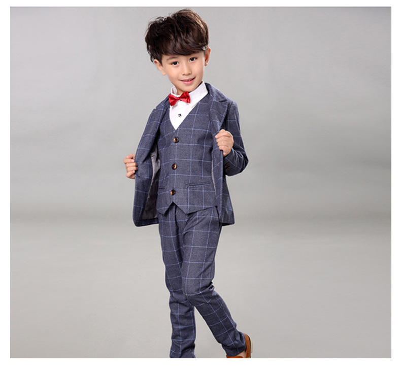 cf49c1c3b US $42.53 42% OFF|Teenager 5pcs/Set Boys Suits For Weddings Kids Prom Suits  Formal Children Big Boys Sets Blazer Boys Clothes Set 170cm H260-in ...