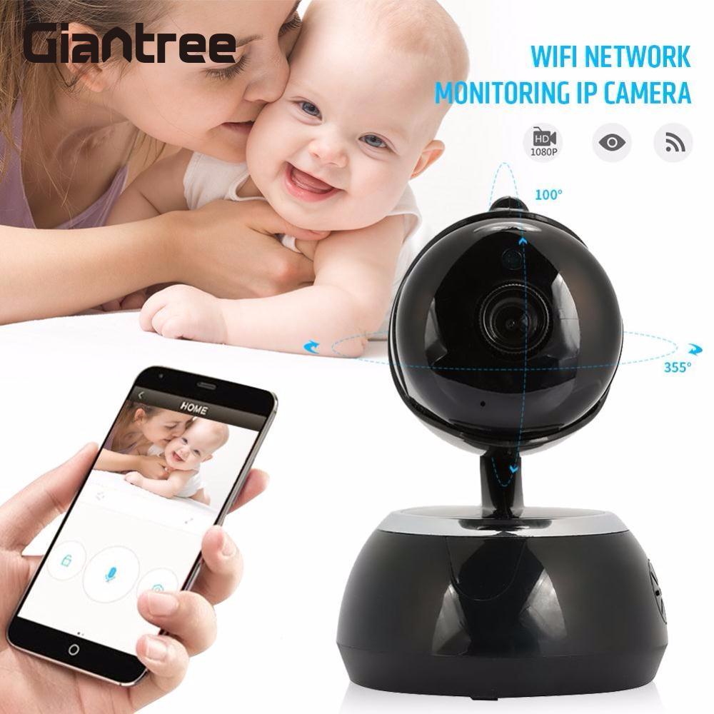 Giantree HD 1080 P WIFI caméra IP Surveillance caméra Mini 1MP sécurité à domicile Portable bébé moniteur téléphone Portable à distance