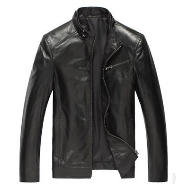 Promote Genuine Leather Men Outwear Real Sheepskin Jacket Leather Male Spring Leather Clothing
