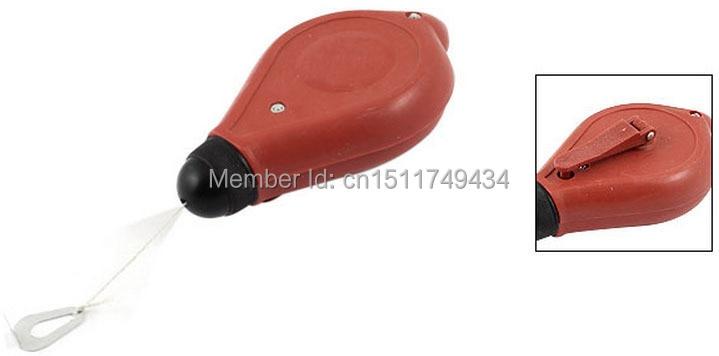 30M 100Ft Thread Carpenter Marking Straight Chalk Line Tool Red Black 2 Pcs