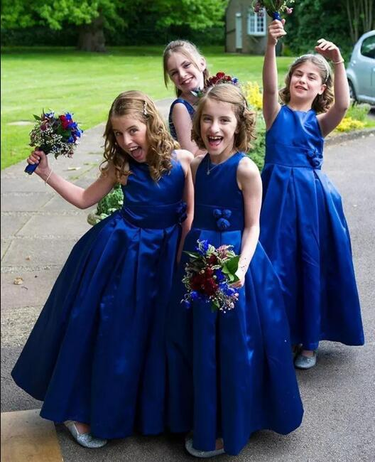 Custom Made Color Ball Gown Flower Girl Dress for Wedding Satin Hard Net Girls Communion Dress size 2-16Y managing projects made simple