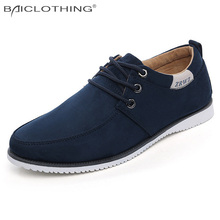 Best Price Leather Shoes 2016 Spring Autumn Fashion Suede Leather Casual Shoes Breathable Oxfords Outdoor Men Flat Shoe Lace-up