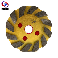 RIJILEI 100mm diamond grinding disc morble Metal polishing pad granite Grinding wheel cup Concrete floor Grinding bowl ZJ07 Polishing Pads Tools -