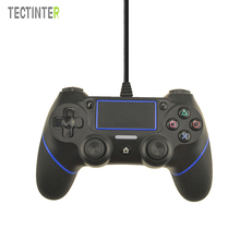 USB Wired Controller For PS4 Playstation Dualshock Sony Gamepads Joystick Joypad Controle Multiple Vibration