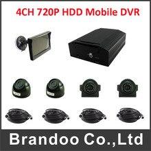 HDD mobile dvr kits 4pcs night vision AHD cameras HDD car blackbox dvr real time recorder