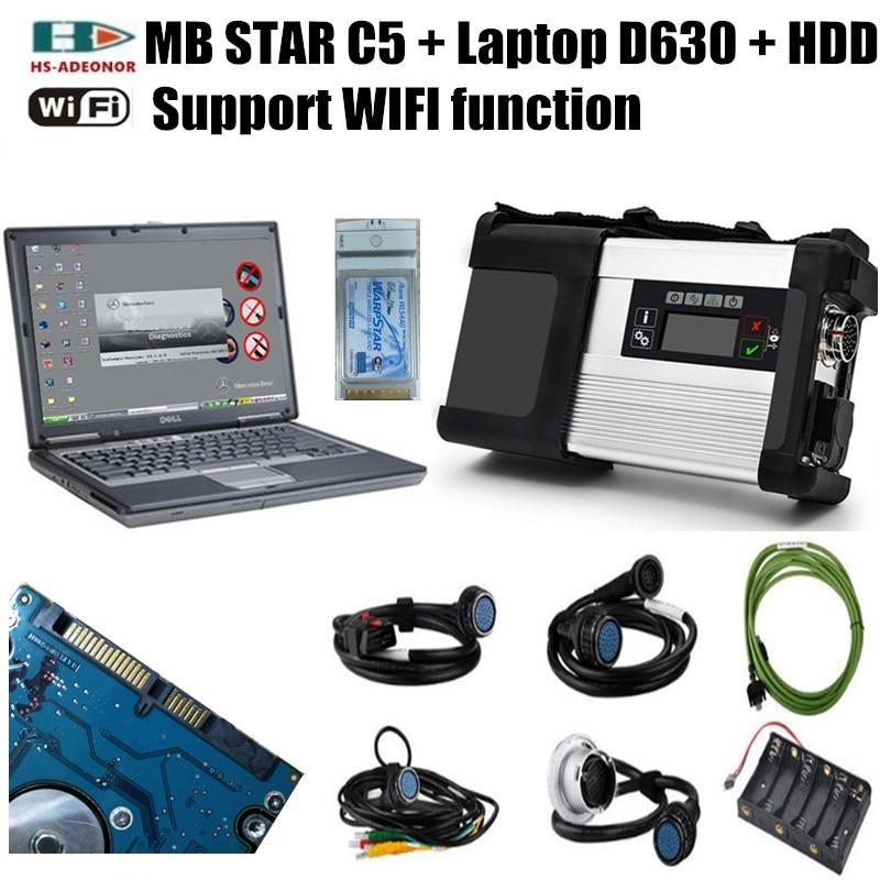 12 V/24 V Mb-stern C5 Und Laptop D630 Mit Die Neueste Epc/vediamo/dts- Monaco Software Als Diagnose Werkzeuge Für Auto, Lkw Und Busse