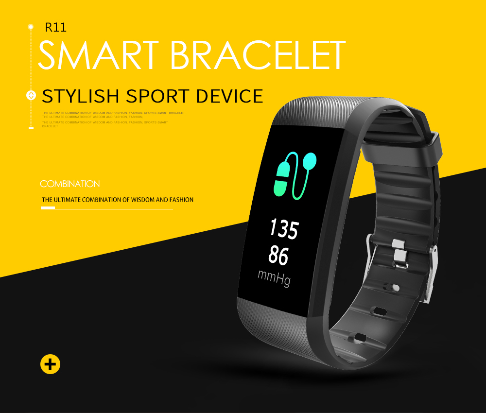 New R11 Smart Wristband Heart Rate Monitor IP67 Sport Fitness Bracelet Tracker Smartband Bluetooth For Android IOS PK For Tezer mymei bluetooth pedometer tracker smartband remote camera wristband for android ios sc