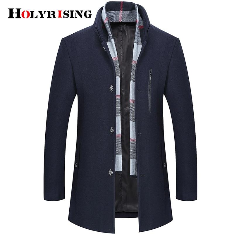 Décontractée 2018 marine Holyrising De Laine Dark Tranchée 2 Hiver Manteau 18523 Haute Red Qualité D'affaires Bleu Mode Veste Hommes Couleur 5 P1wg1S