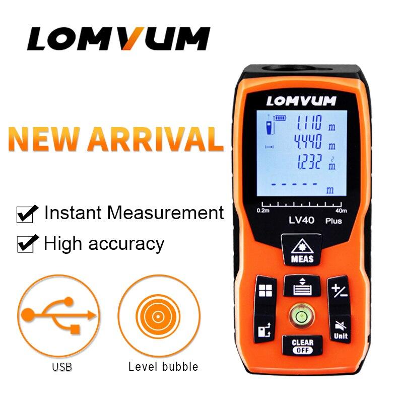 LOMVUM LV плюс ручной лазерный дальномер 60 м 80 м 100 м мини лазерный дальномер пузырьковый уровень дальномер diastimeter измерения