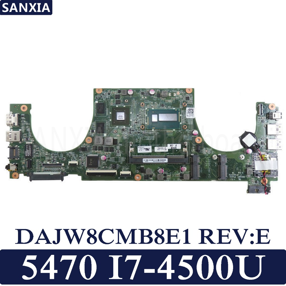 KEFU DAJW8CMB8E1 Laptop motherboard for Dell Vostro 5470 original mainboard I7 4500U GT740M