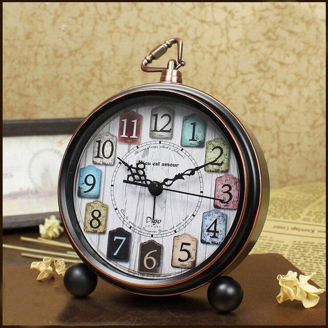 Classic Vintage Style Metal Alarm Clock Desktop Kids Bedside Clock