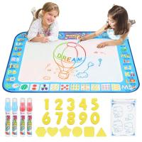 D FantiX Water Doodle Mat Extra Large Water Drawing Mat Kids Magic Doodle Board Painting Writing Pad with 4 Magic Pen Education