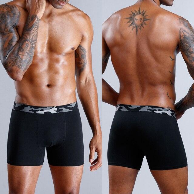 Boxer de 4 piezas, ropa interior para hombre, Boxer, ropa interior de algodón para hombre, calzoncillos de algodón para hombre, ropa interior Sexy para hombre
