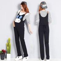 Plus Size Cartoon Loose Maternity Pants Pregnant Trousers Strap Belt Bib Pants Clothes For Fat Women Pregnant Overalls Jumpsuit