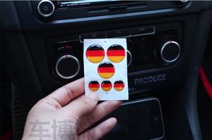 6pcs/set Germany German Flag Badge Emblem Resin Sticker Fit For VW MK7 GOLF 7 Au-di BM-W Stereo Radio Button