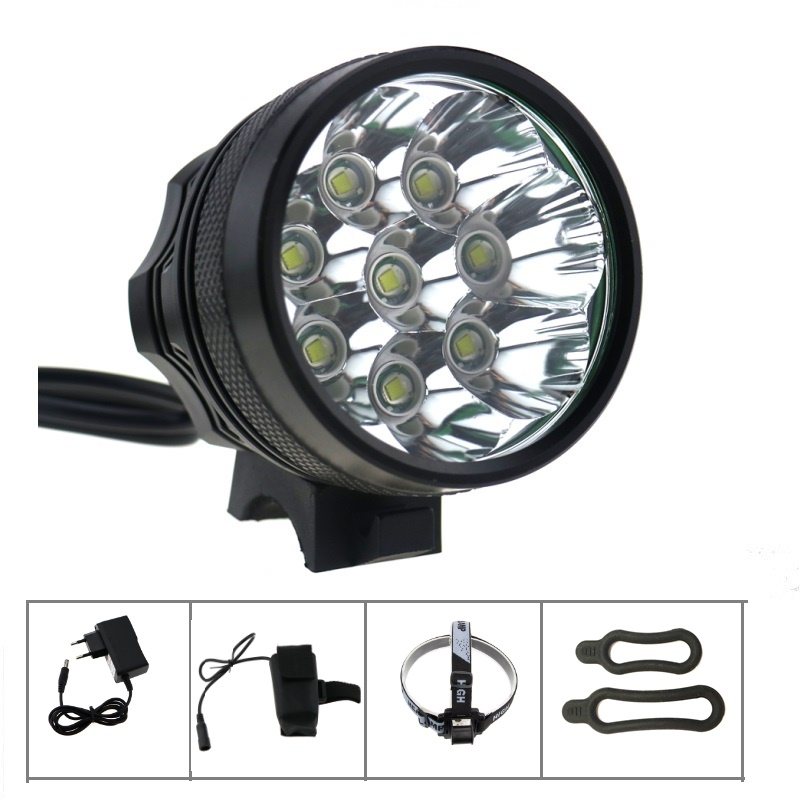 Waterproof 12000LM Cycling Bike Light 8x Cree XML T6 Led Bicycle Mounatin Headlamp Helmet Light + 18650 Battery + Charger sitemap 56 xml