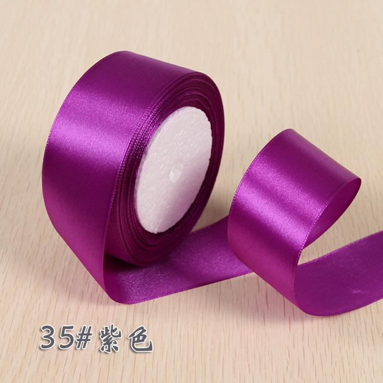 6 мм 1 см 1,5 см 2 см 2,5 см 4 5 см атласными лентами DIY искусственный шелк розы Ремесла поставок швейной фурнитуры Скрапбукинг материал - Цвет: Темно-фиолетовый