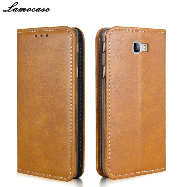 For Samsung Galaxy On7 2016 PU Leather Case Retro Flip Cover For Samsung Galaxy On7 2016 SM-G6100 Phone Bags Silicone Cases