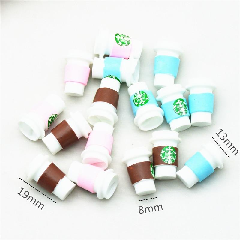 19 мм x 13 мм 12 шт. 3D кабошон для кофейных чашек из смолы   миниатюрные кабошоны для кофе   домашние самодельные миниатюрные чашки для молочного чая Кабошоны Статуэтки и миниатюры      АлиЭкспресс