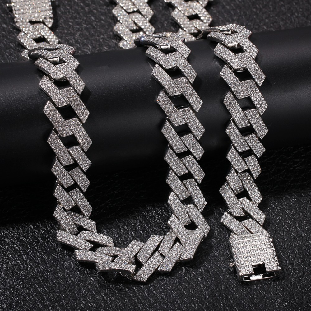 Image 3 - THE BLING KING 20mm Miami Prong Cuban Chain NE BA 3 Row Full Iced
