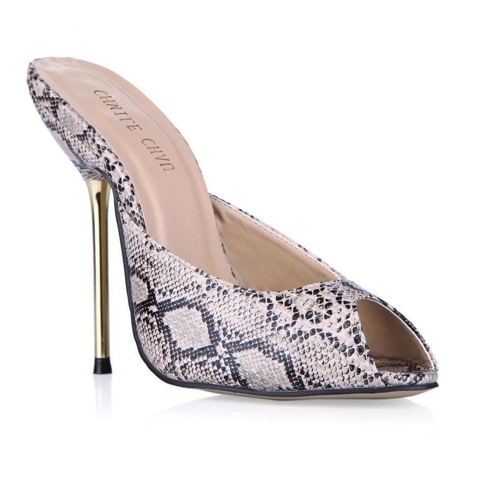 Toe Sexy Stiletto De Chau En Chaussures Haute Femmes De Soirée Peau Peep Serpent Chmile 7qIwZPxP