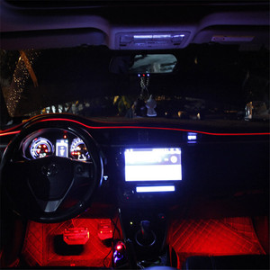 Image 2 - Auto Omgevingslicht Led Voet Lamp Auto Sfeer Verlichting Led Strip Rgb Kleur Meerdere Modi Automotive Interieur Decoratieve Verlichting