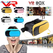 Hot! Best Price VP Glasses VR BOX Virtual Reality 3D Glasses Bluetooth+Earphone/Rubber Oil coating high quality Mar27(China)
