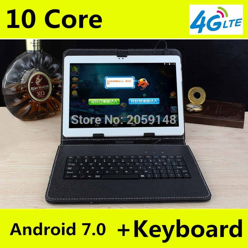 DHL Free Shipping 10 Inch Tablet PC Android 7.0 10 Core 4G LTE RAM 4GB ROM 128GB Dual SIM Card Bluetooth Tablets 10 10.1+ Gifts