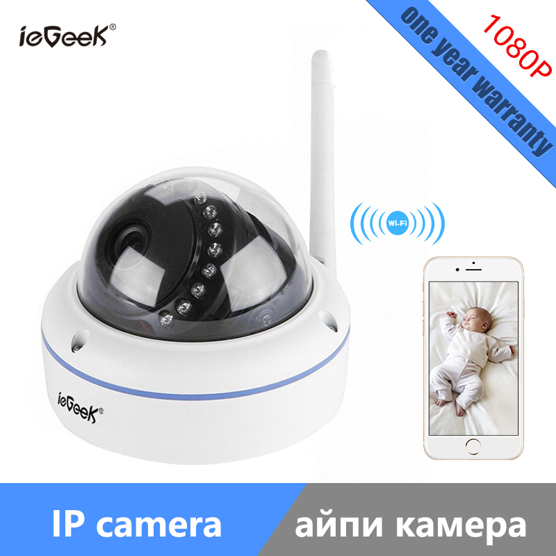 ieGeek Free shipping high quality Onvif Wireless WIFI IP Camera Home CCTV 1080P HD Camera Motion Detect Remote View 2MP EU wifi ipc 720p 1280 720p household camera onvif with allbrand camera free shipping
