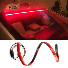 OKEEN Super Bright Red Flowing Flashing LED Light Car Third Brake Light Rear Tail High Mount Stop Lamp 12V Car Turn Signal Strip(China)