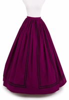 Prom Civil War Skirt Victorian French Pleated Gathered Bustle Skirts
