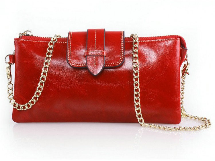 ladies wallets leather red