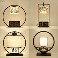 Chinese Retro Rural Metal E27 Led Table Lamp Lustre Ceramic/Glass Bedroom Led Table Light Simple Table Lighting Lights Fixtures
