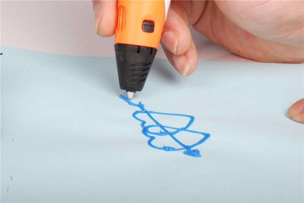 Высокое качество 3d-принтер pen1.75mm abs/пла smart 3d рисунок пером перо + свободной нити + адаптер творческий подарок для фуршета дети дизайн живопись