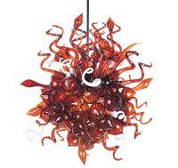 Großhandel Preis Urban Design Kristall Wein Rote handgefertigte Blown Glas Kronleuchter Beleuchtung-in Pendelleuchten aus Licht & Beleuchtung bei