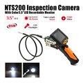 Câmara De Inspecção Endoscópio NTS200 Eyoyo 3.5 Polegada Monitor LCD 8.2mm de Diâmetro 1 Metros Tubo DVR Endoscópio Zoom Girar Virar