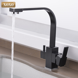 Image 4 - XOXO Filter Kitchen Faucet Drinking Water Single Hole Black Hot and cold Pure Water Sinks Deck Mounted  Mixer Tap 81058