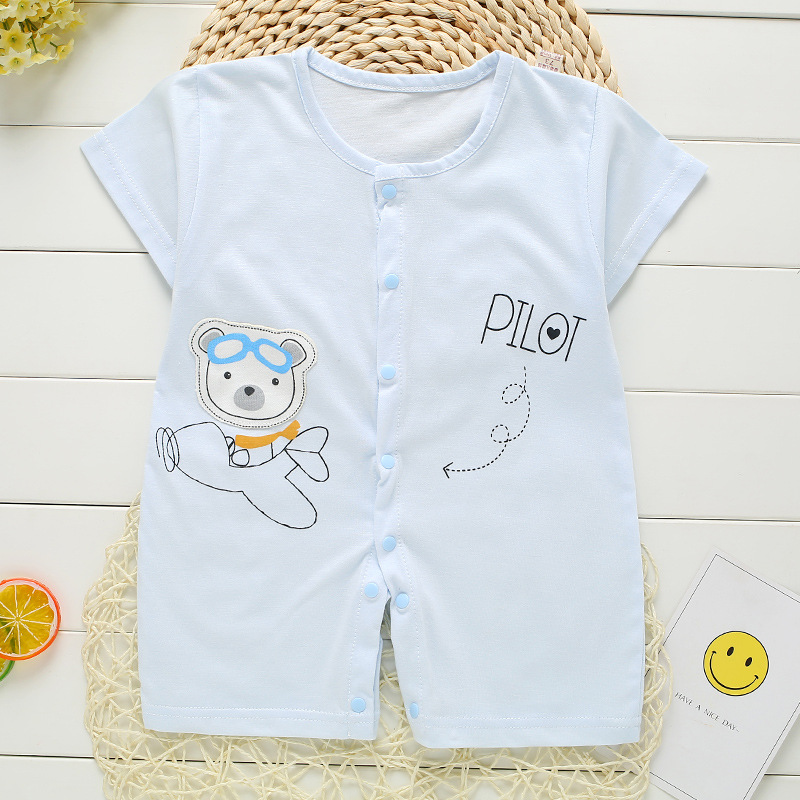 New Summer Baby Romper Cartoon print Short Sleeve infant Jumpsuit cotton Newborn Baby boys girls clothes  Kids clothing baby boys rompers infant jumpsuits mickey baby clothes summer short sleeve cotton kids overalls newborn baby girls clothing